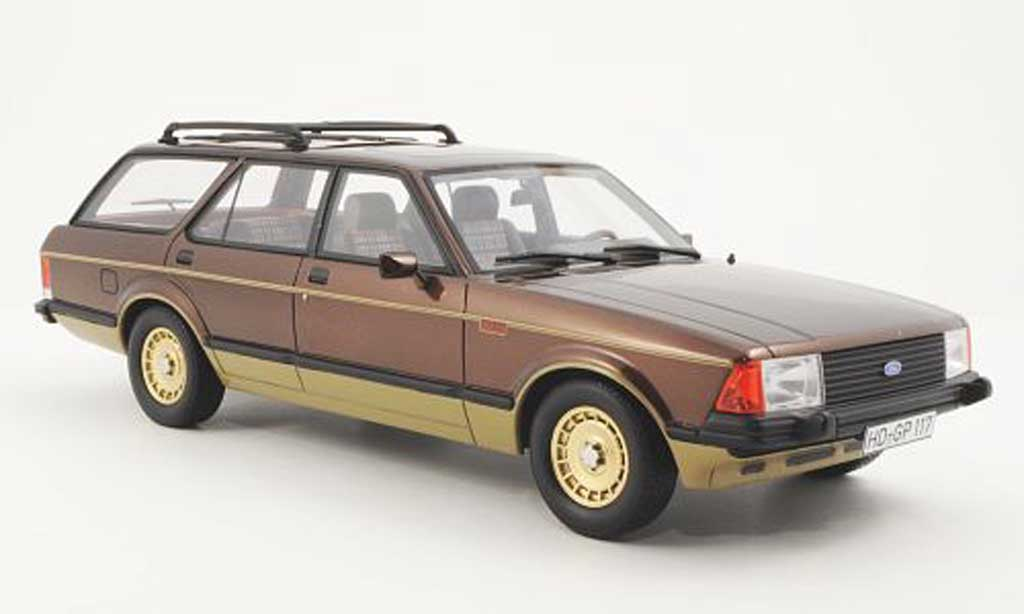 Ford Granada 1/18 BoS Models MKII Turnier Chasseur marron-met./gold limitierte Auflage 1.000 1980 miniature