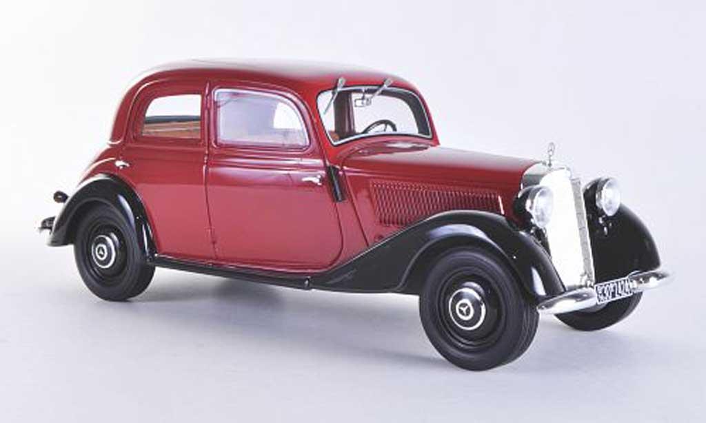 Mercedes 170 1/18 BoS Models V rouge/noire limitierte Auflage 1.000 Stuck 1939 miniature