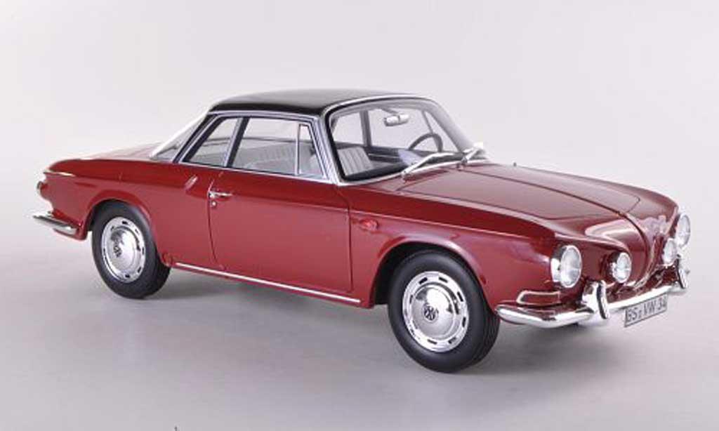 Volkswagen Karmann 1/18 BoS Models Ghia T34 rouge/noire limitierte Auflage 1.000 1961 miniature