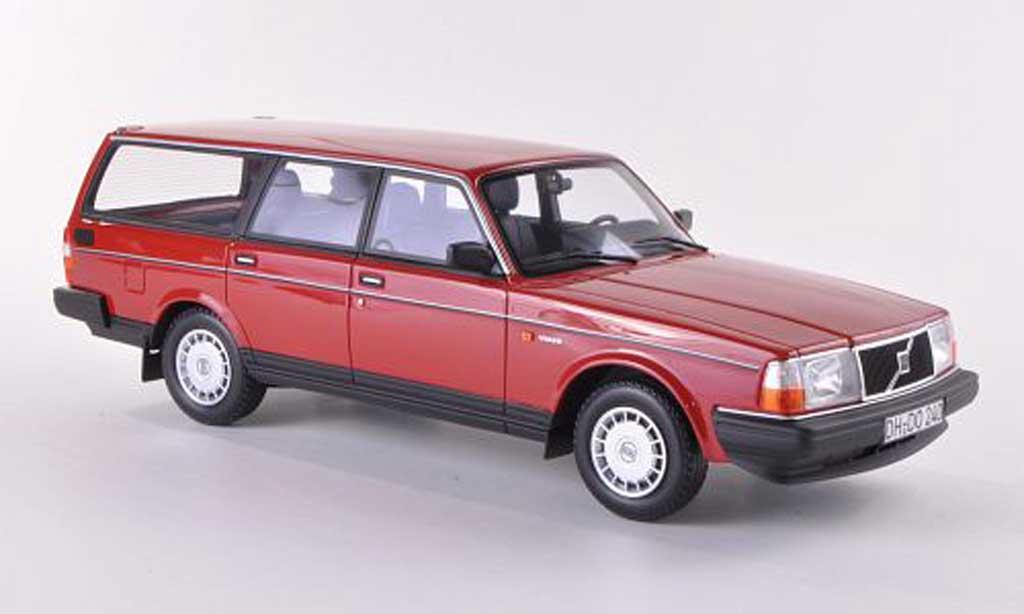 Volvo 240 GL 1/18 BoS Models Kombi rouge limitierte Auflage 1.000 Stuck 1989 miniature