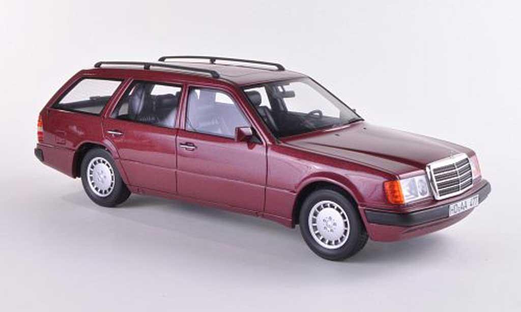 Mercedes 300 TE 1/18 BoS Models (S124) rouge limitierte Auflage 1.000 Stuck 1990 miniature