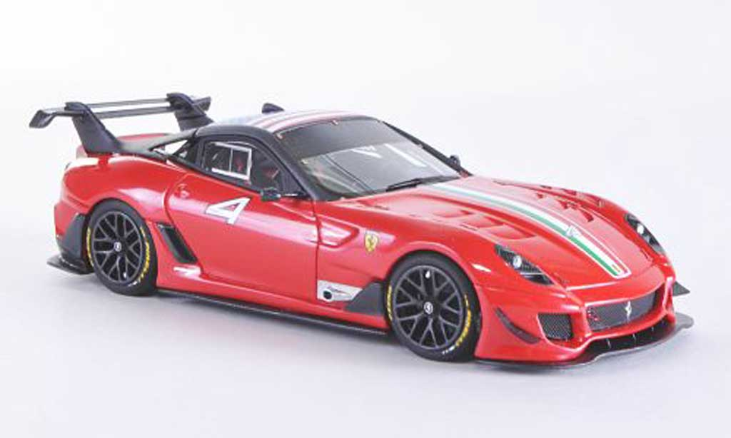 Ferrari 599 XX 1/43 Look Smart EVO No.4 red F1 2009 mit Trikolore und US-Flagge diecast model cars