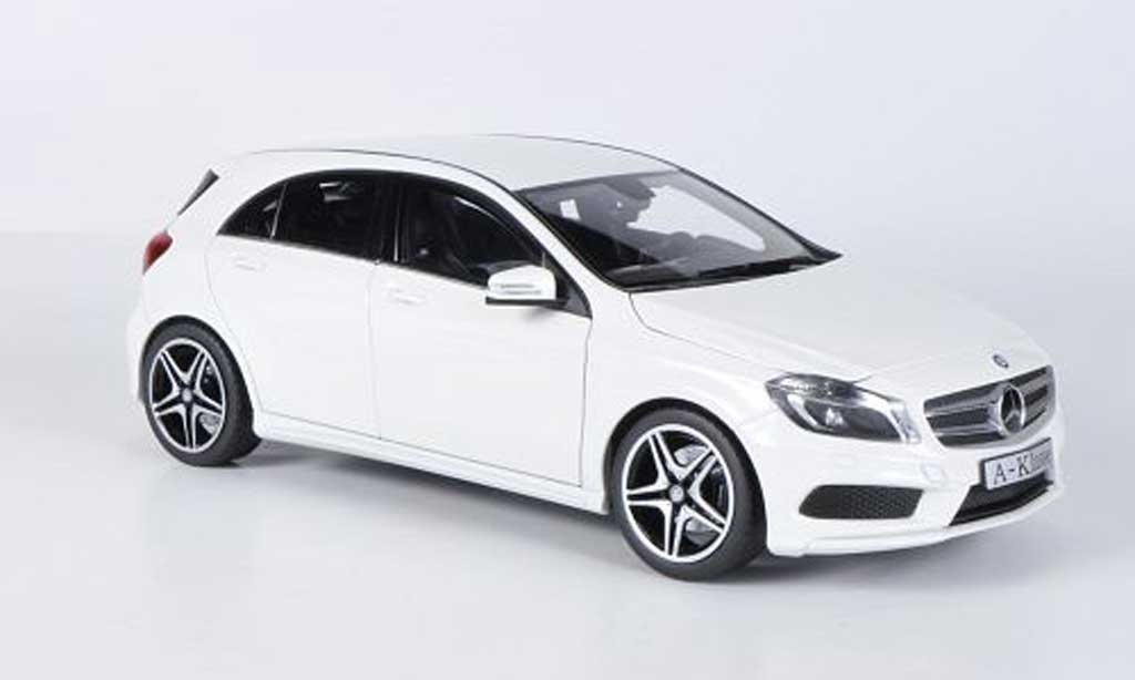 mercedes classe a miniature w176 blanche 2012 norev 1 18 voiture. Black Bedroom Furniture Sets. Home Design Ideas