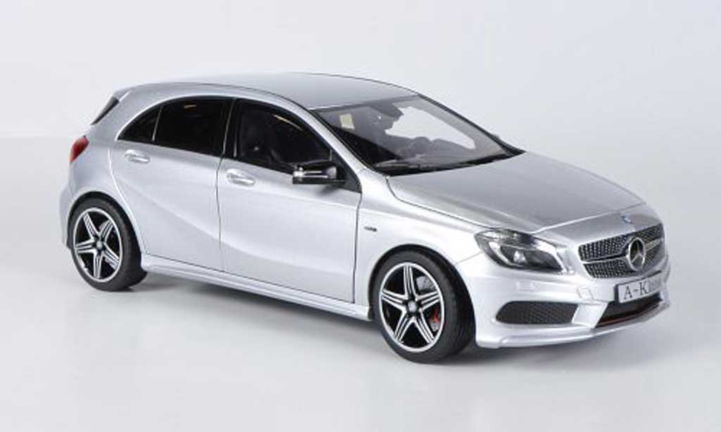 mercedes classe a miniature sport w176 grise 2012 norev 1 18 voiture. Black Bedroom Furniture Sets. Home Design Ideas