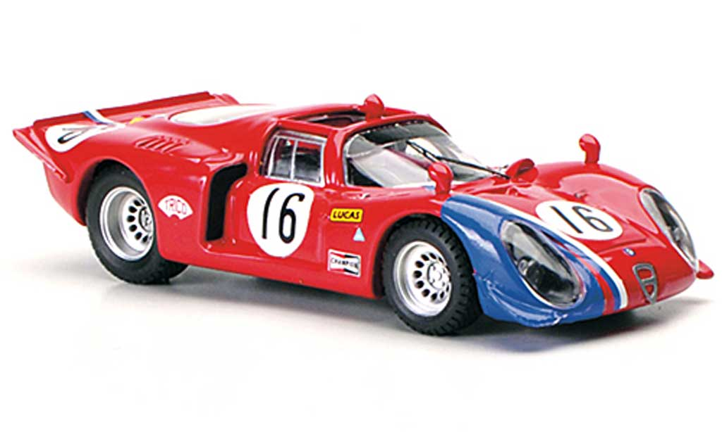 Alfa Romeo 33.2 1969 1/43 Best Spyder No.16 Pilette / Slotemaker Ring 1969 miniature