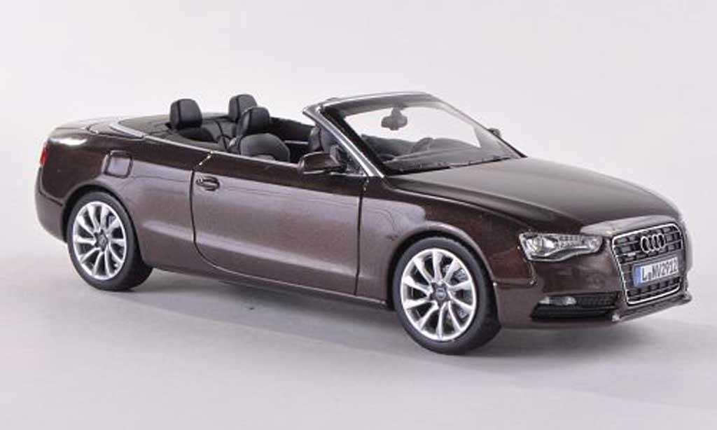 Audi A5 1/43 Norev Cabrio marron 2012 miniature