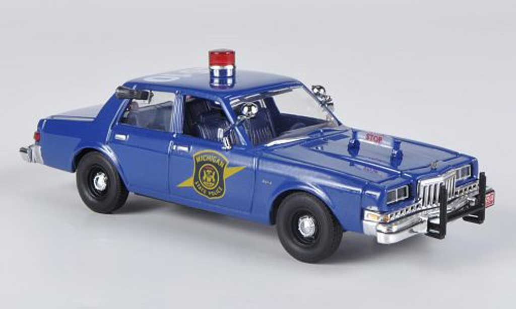 Dodge Diplomat 1/43 First Response Michigan State Police 1985 miniature