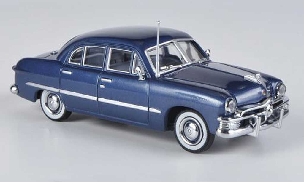 Ford Custom 1949 1/43 American Heritage Models 4-portes Sedan bleu miniature