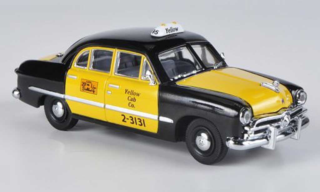 Ford Custom 1949 1/43 American Heritage Models 4-portes Sedan Yellow Cab Co. noire/jaune Taxi miniature