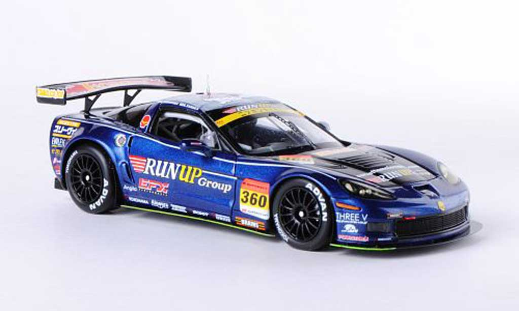 Chevrolet Corvette C6 1/43 Ebbro No.360 Run Up Group A.Tanaka/T.Shirasaka SGT 300 2012 miniature