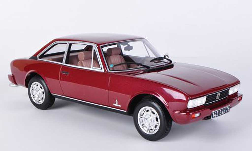 Peugeot 504 coupe 1/18 Ottomobile V6 TI Coupe rouge miniature