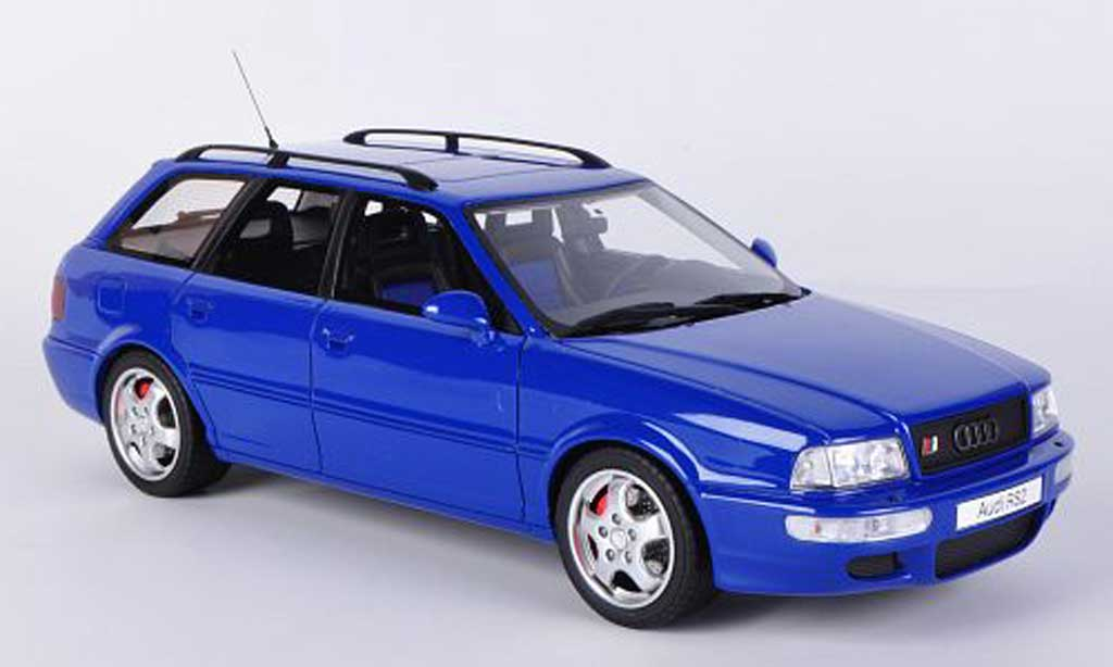 Audi RS2 1/18 Ottomobile Avant bleu miniature