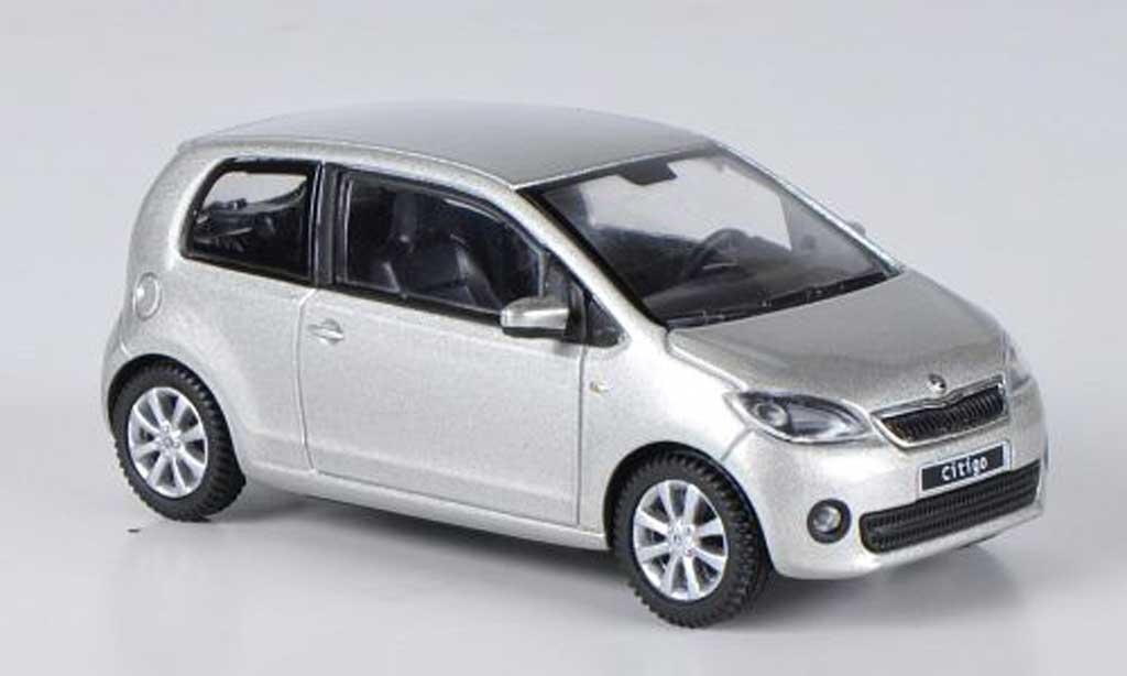 Skoda Citigo 1/43 Abrex grise  Brilliant 3-portes 2012 miniature