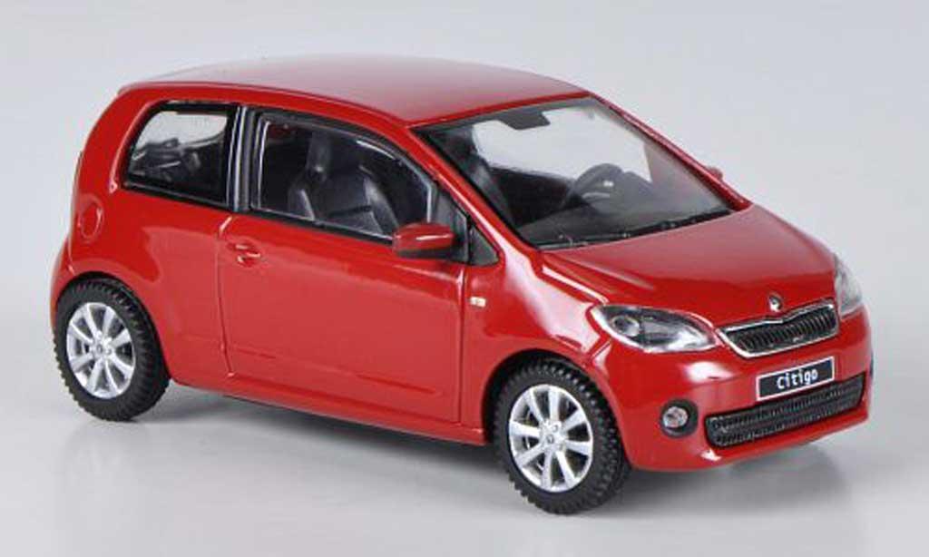 Skoda Citigo 1/43 Abrex rouge 3-Turer 2012 miniature