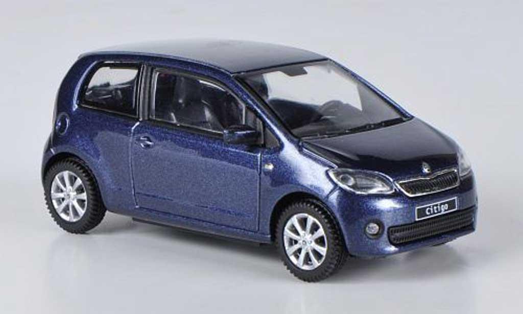 skoda citigo blau 3 turer 2012 abrex modellauto 1 43 kaufen verkauf modellauto online. Black Bedroom Furniture Sets. Home Design Ideas