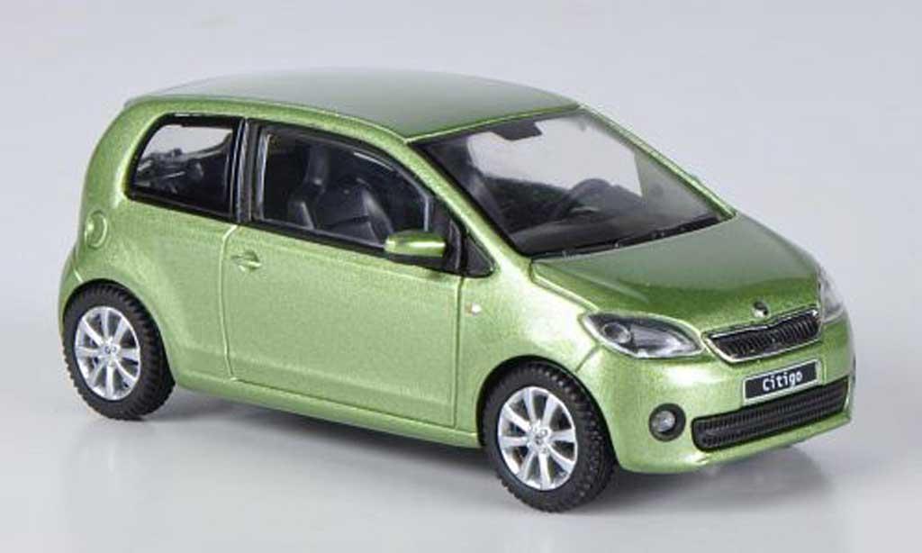 Skoda Citigo 1/43 Abrex verte 3-portes 2012 miniature