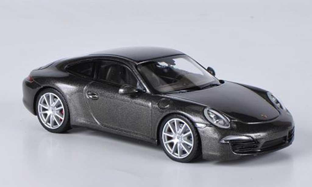 Porsche 991 4S 1/43 Minichamps Carrera grey 2012 diecast model cars
