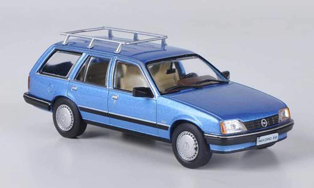 Opel Rekord 1/43 Hachette E2 Caravan bleu (ohne Magazin) 1982 miniature