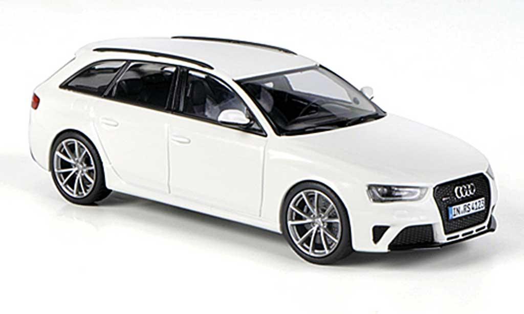 Audi RS4 1/43 Minichamps Avant (Typ B8) blanche 2012 miniature