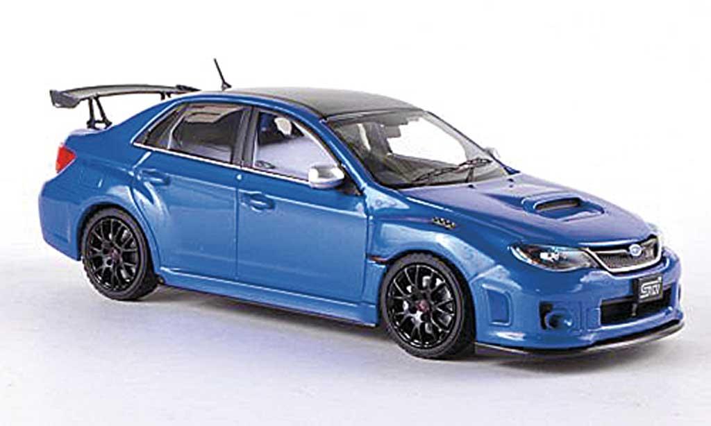 Subaru Impreza WRX 1/43 Ebbro STI S206 NBR Challenge Package bleue/carbon RHD miniature