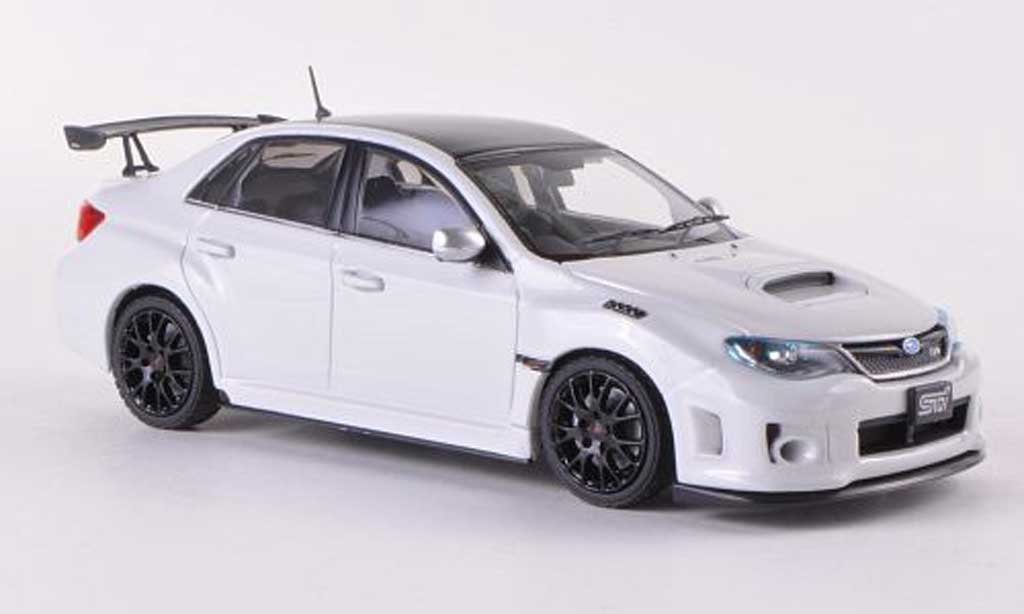 Subaru Impreza WRX 1/43 Ebbro STI S206 NBR Challenge Package blanche/carbon RHD miniature