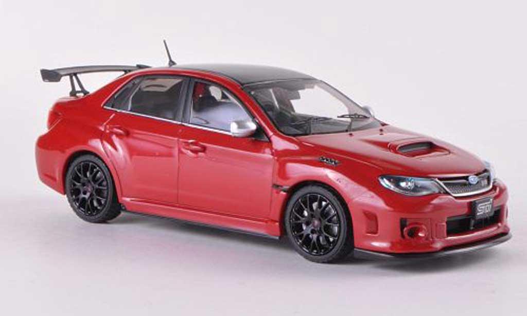 Subaru Impreza WRX 1/43 Ebbro STI S206 NBR Challenge Package rouge/carbon RHD miniature