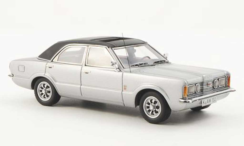 Ford Taunus 1973 1/43 Neo GXL grise/noire 4-Turer miniature
