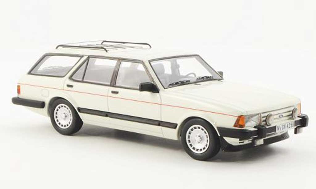 Ford Granada 1/43 Neo MK II Turnier 2.8 Injection blanche limitierte Auflage 300 1984 miniature