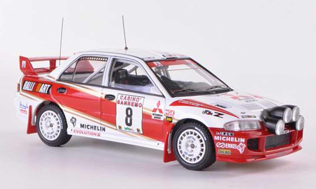 Mitsubishi Lancer Evolution III 1/43 HPI No.8 RalliArt D.Auriol / D.Giraudet Rally Sanremo  1996 miniature