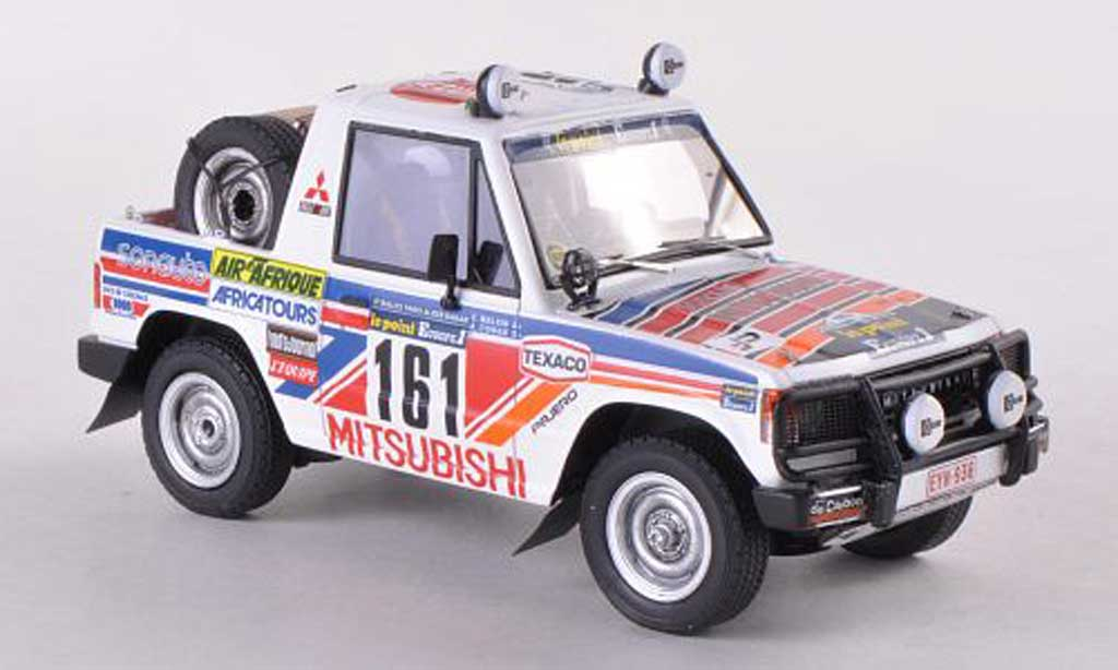 Mitsubishi Pajero 1/43 HPI No.161 Le Point Rally Paris-Dakar 1983 A.Cowan/C.Malkin miniature