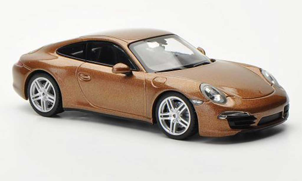 Porsche 991 Carrera 4 1/43 Minichamps Carrera 4 brown 2012 diecast model cars