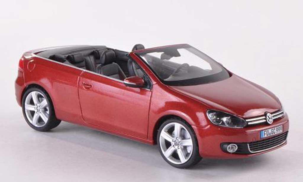 Volkswagen Golf VI 1/43 Schuco Cabrio  rouge miniature