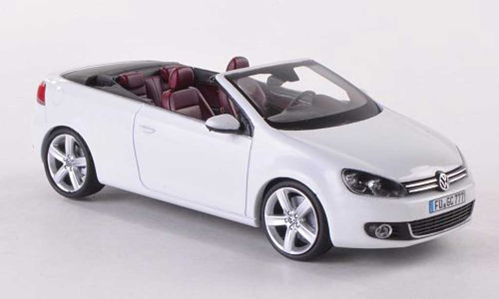 Volkswagen Golf VI 1/43 Schuco Cabrio blanche miniature