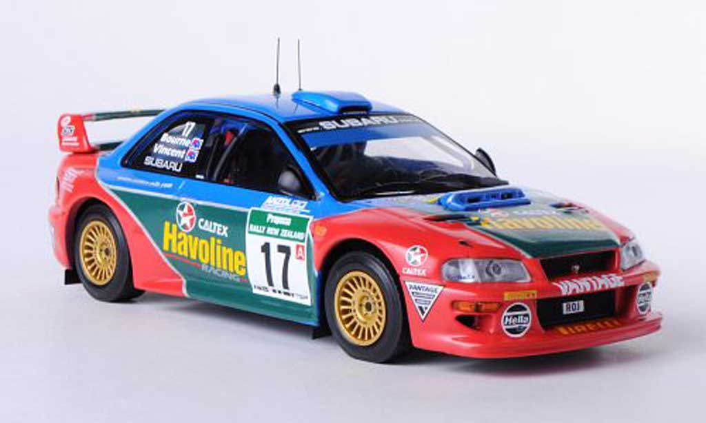 Subaru Impreza WRC 1/43 IXO No.17 Team P.Bourne / G.Vincent Rally Neuseeland 2000 diecast model cars