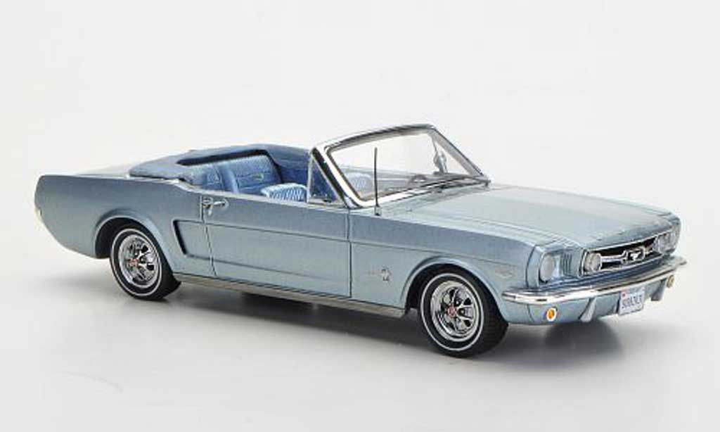 Ford Mustang 1966 1/43 Spark 1966 Convertible bleu Sondermodell MCW L.E. 300 diecast model cars
