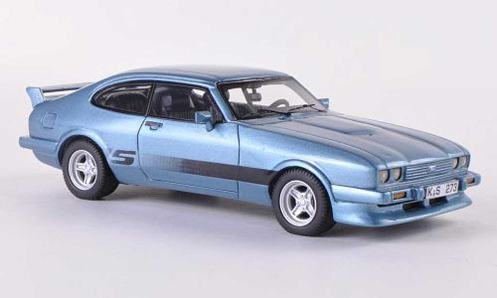 Ford Capri 1/43 Neo MK III Turbo Tuning S-Version bleue  1981 miniature