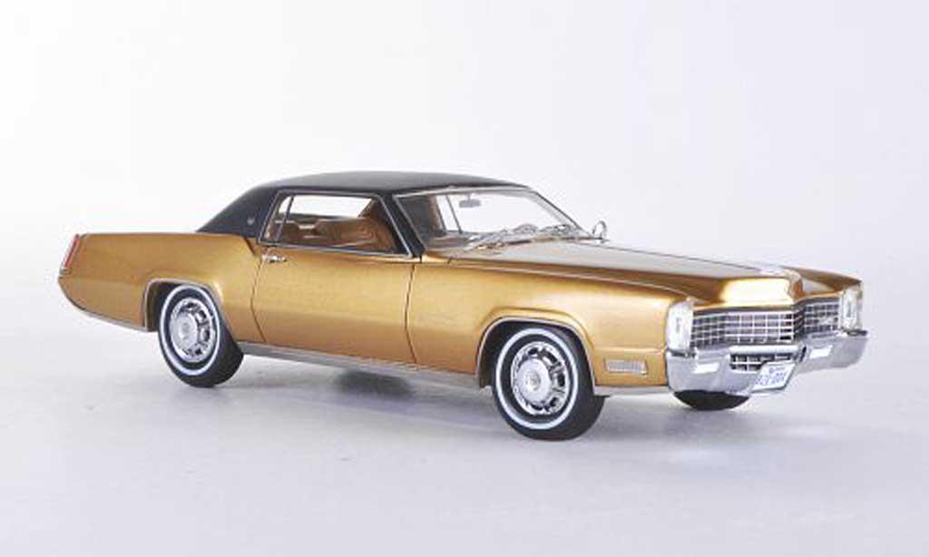 Cadillac Eldorado 1/43 Neo 2-Door Coupe gold/noire  1968 miniature