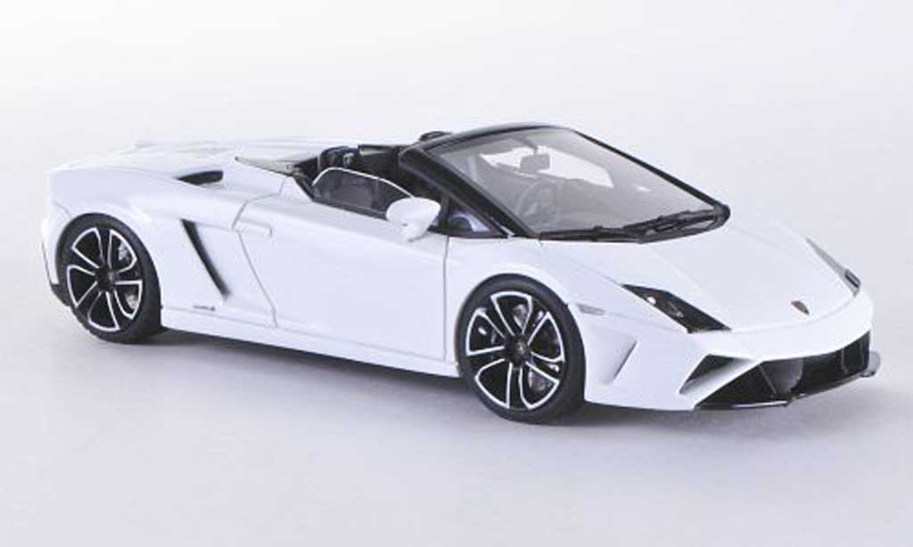Lamborghini Gallardo LP560-4 1/43 Look Smart LP560-4 Spyder blanche miniature