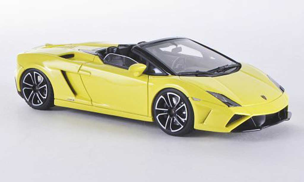 Lamborghini Gallardo LP560-4 1/43 Look Smart LP560-4 Spyder jaune miniature
