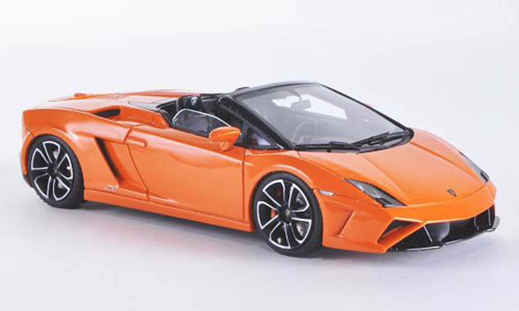 Lamborghini Gallardo LP560-4 1/43 Look Smart 4 Spyder orange miniature