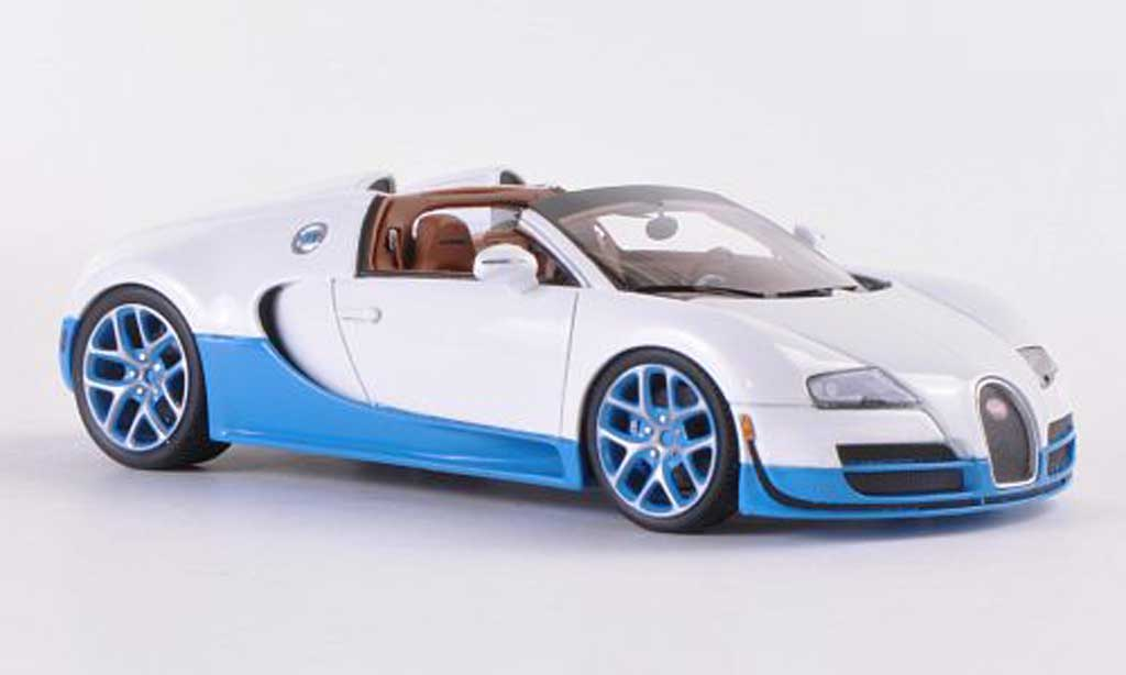 Bugatti Veyron Grand Sport 1/43 Look Smart 16.4 blanche/bleu Paris Motorshow 2012 miniature