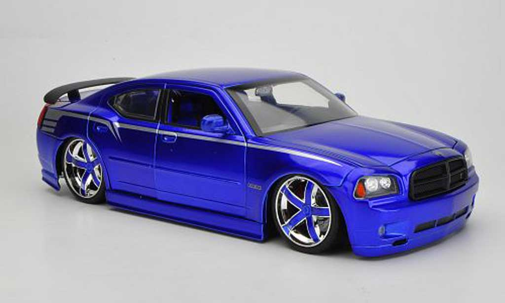 Dodge Charger 2006 1/18 Jada Toys SRT8 bleu 2006