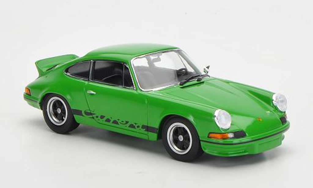 Porsche 911 1/43 Minichamps Carrera 2.7 grun/noire 1973 miniature