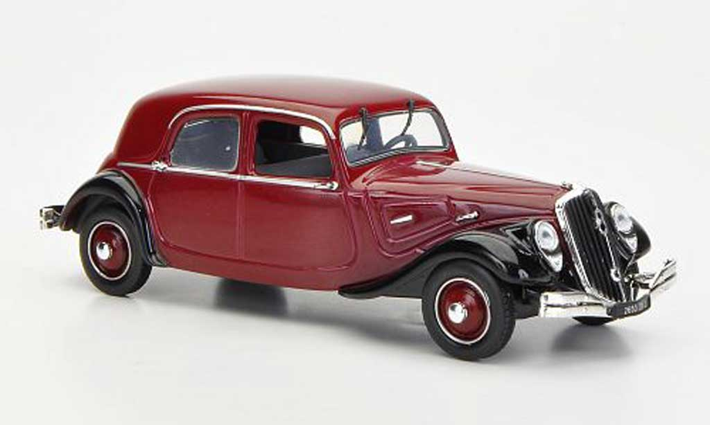 Citroen Traction 22 1/43 Nostalgie Berline rouge/noire 1934 miniature