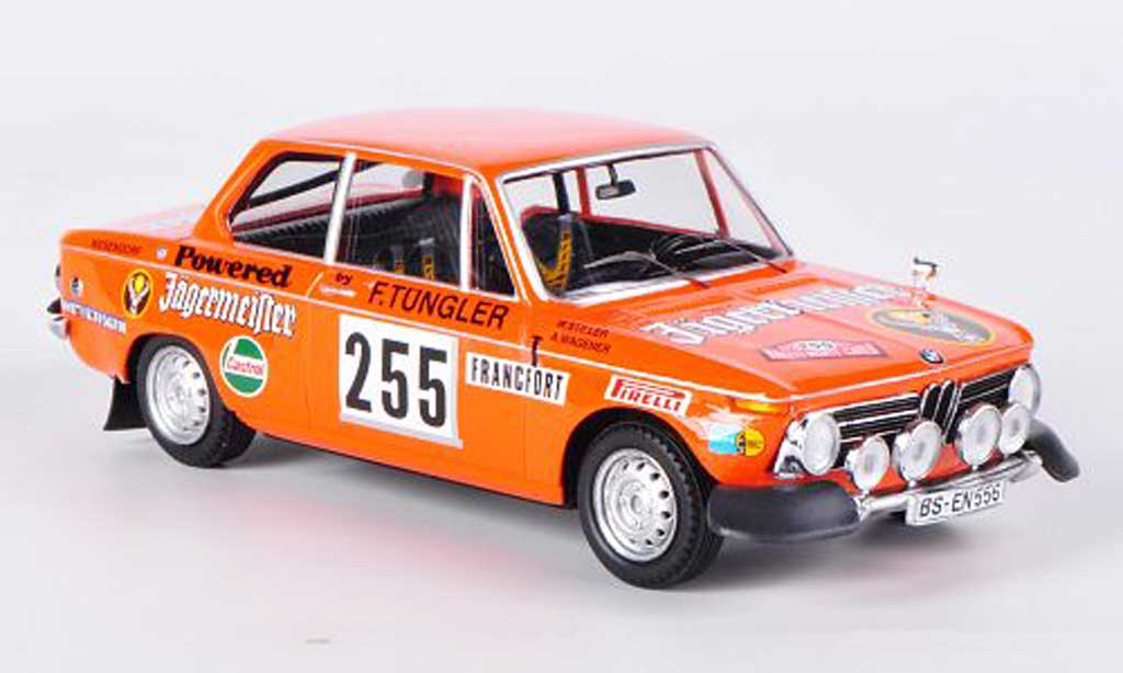 Bmw 2002 Ti Ti No.255 Jagermeister Stiller/Wagener Rally Monte Carlo 1973 Trofeu. Bmw 2002 Ti Ti No.255 Jagermeister Stiller/Wagener Rally Monte Carlo 1973 Rallye miniature 1/43