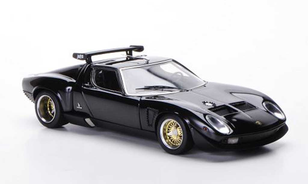 lamborghini miura jota svr schwarz 1972 frontiart. Black Bedroom Furniture Sets. Home Design Ideas