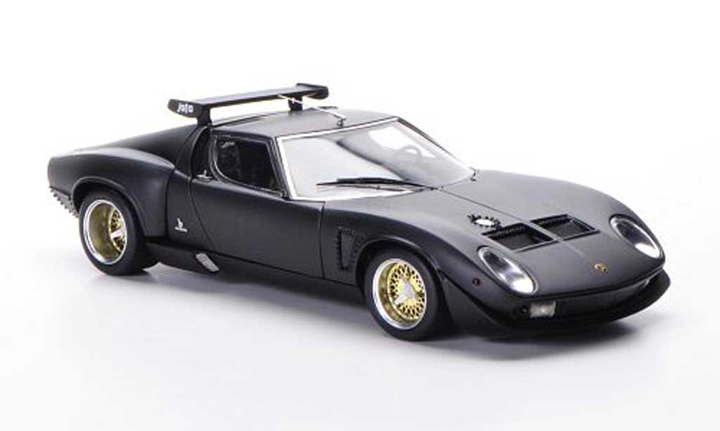 lamborghini miura jota svr mattschwarz 1972 frontiart. Black Bedroom Furniture Sets. Home Design Ideas