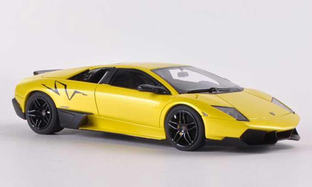 Lamborghini Murcielago LP670 1/43 Look Smart SV Fixed Wing jaune miniature