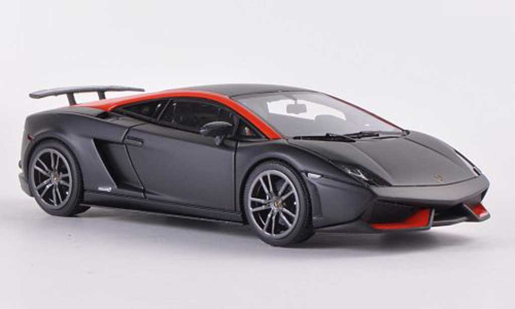 Lamborghini Gallardo LP570-4 1/43 Look Smart Superleggera noire/orange  miniature