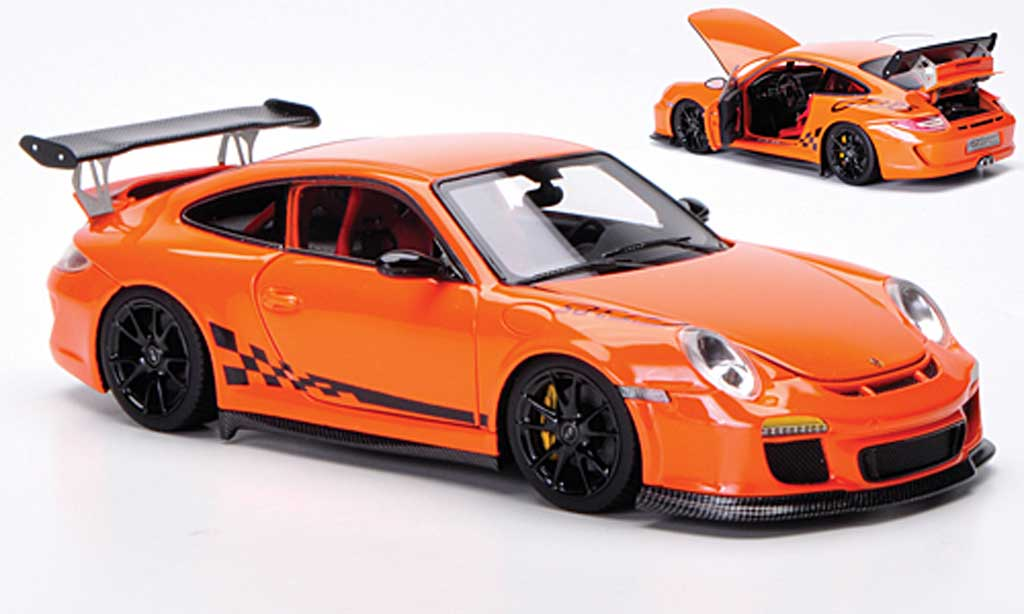 Porsche 997 GT3 RS 1/43 FrontiArt 2010 orange/black diecast model cars